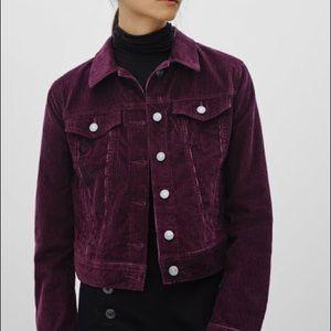 Aritzia Talula Corduroy Jean jacket